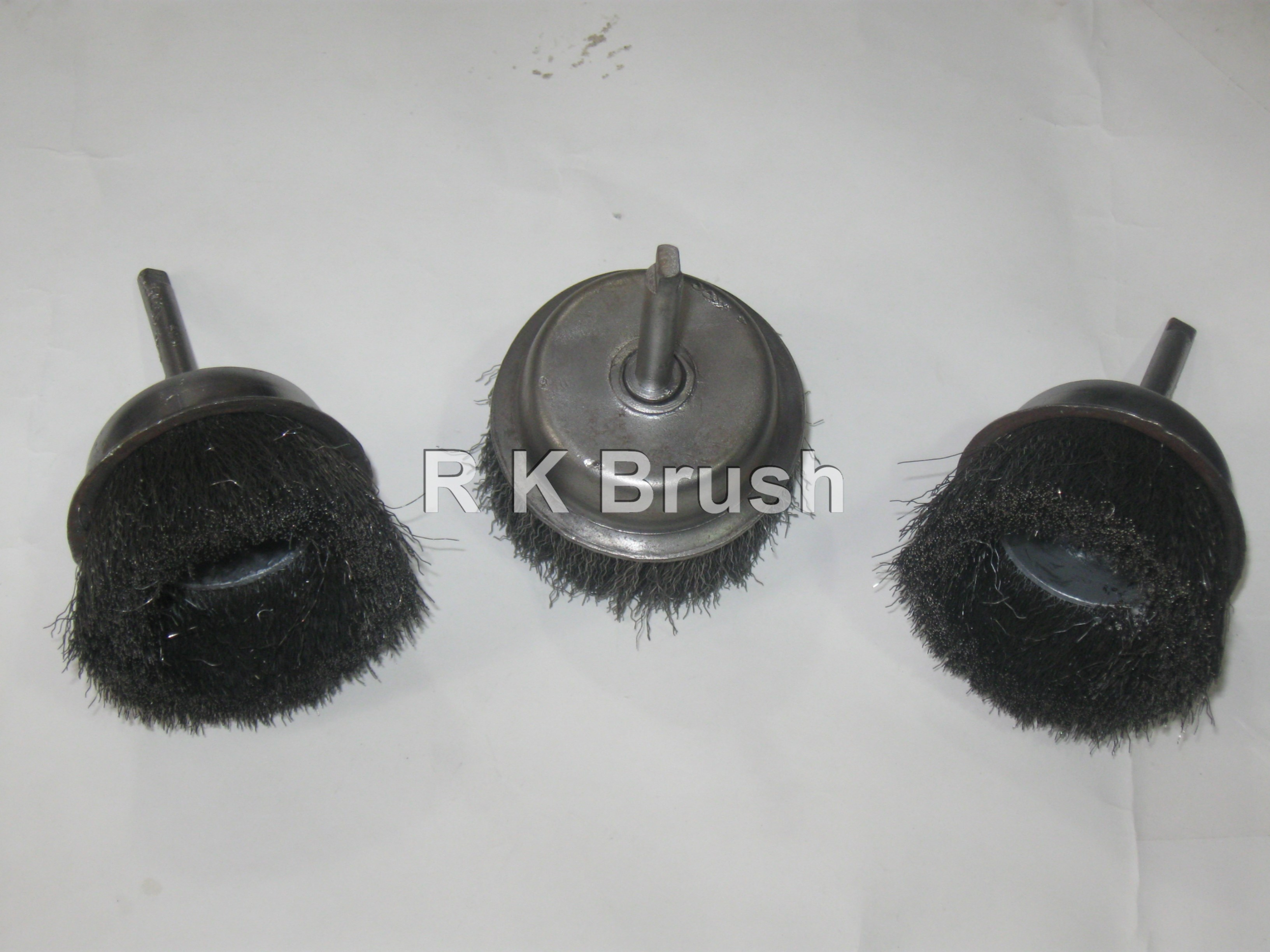 SS WIRE CUP BRUSH (SHANK)